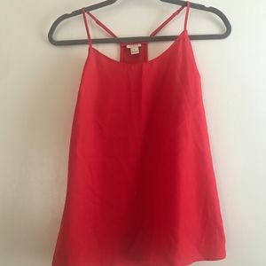 J. Crew Red Silk Cami Size 2
